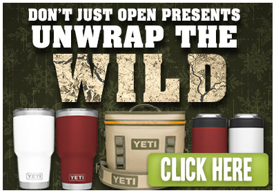 Don't just unwrap presents. UNWRAP THE WILD with YETI Products! Click Here!
